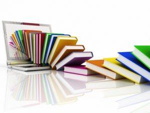 Livros que saem de um computador